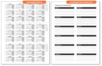 Calendrier Trenial et Calendrier de Planification Annuel